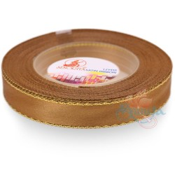 12mm Senorita Gold Edge Satin Ribbon - Dark Goldenrod 03G