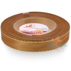 12mm Senorita Gold Edge Satin Ribbon - Dark Goldenrod 03G