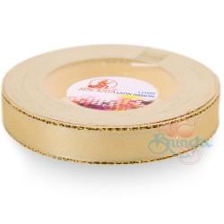 12mm Senorita Gold Edge Satin Ribbon - Pearl 224G