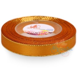 12mm Senorita Gold Edge Satin Ribbon - Honey 232G