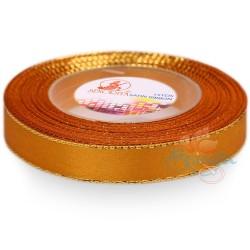 12mm Senorita Gold Edge Satin Ribbon - Honey 232G