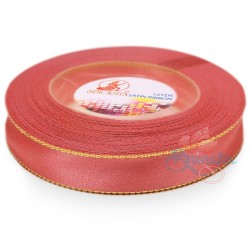 12mm Senorita Gold Edge Satin Ribbon - Salmon 254G