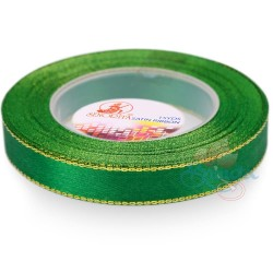 12mm Senorita Gold Edge Satin Ribbon - Forest 26G