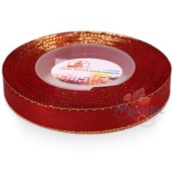 12mm Senorita Gold Edge Satin Ribbon - Red 28G