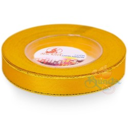 12mm Senorita Gold Edge Satin Ribbon - Dandelion 31G