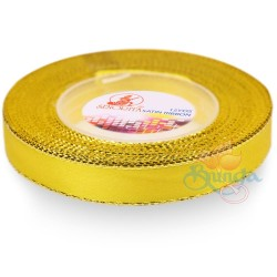 12mm Senorita Gold Edge Satin Ribbon - Yellow 3G