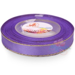 12mm Senorita Gold Edge Satin Ribbon - Light Orchid 42G