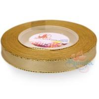 12mm Senorita Gold Edge Satin Ribbon - Classic Gold 5155G