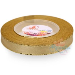 12mm Senorita Gold Edge Satin Ribbon - Classic Gold 5155G