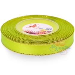 12mm Senorita Gold Edge Satin Ribbon - Grass Green 535G