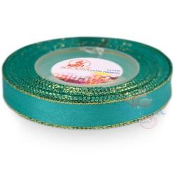 12mm Senorita Gold Edge Satin Ribbon - Tiffany Blue 548G