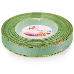 12mm Senorita Gold Edge Satin Ribbon - Light Aqua 801G