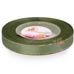 12mm Senorita Gold Edge Satin Ribbon - Sea Green 803G