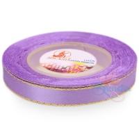 12mm Senorita Gold Edge Satin Ribbon - Light Iris 804G