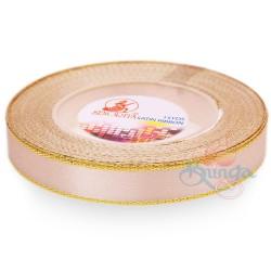12mm Senorita Gold Edge Satin Ribbon - Pink Beige 806G