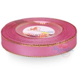 12mm Senorita Gold Edge Satin Ribbon - Carnation Pink 812G