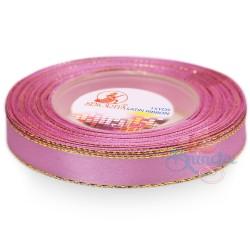 12mm Senorita Gold Edge Satin Ribbon - Vintage Pink 814G