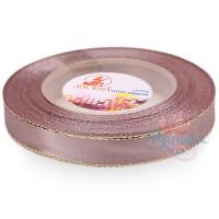 12mm Senorita Gold Edge Satin Ribbon - Rosy Brown 815G