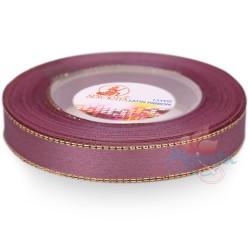 12mm Senorita Gold Edge Satin Ribbon - Old Purple 816G