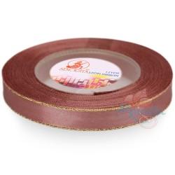 12mm Senorita Gold Edge Satin Ribbon - Rose Gold 820G