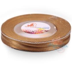 12mm Senorita Silver Edge Satin Ribbon - Dark Goldenrod 03S