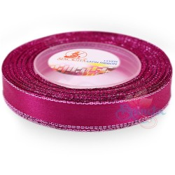 12mm Senorita Silver Edge Satin Ribbon - Fuchsia 17s