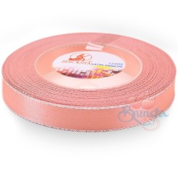 12mm Senorita Silver Edge Satin Ribbon - Light Peach 228s