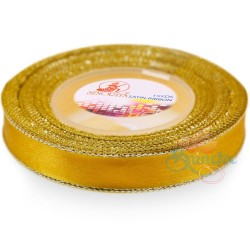 12mm Senorita Silver Edge Satin Ribbon - Dandelion 31s