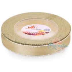 12mm Senorita Silver Edge Satin Ribbon - Butter Milk 51s