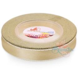 12mm Senorita Silver Edge Satin Ribbon - Butter Milk 51s