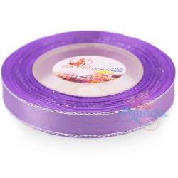 12mm Senorita Silver Edge Satin Ribbon - Lavender 804s
