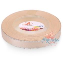 12mm Senorita Silver Edge Satin Ribbon - Pink Beige 806s
