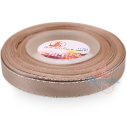 12mm Senorita Silver Edge Satin Ribbon - Bleeker Beige 807s