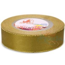 24mm Senorita Gold Edge Satin Ribbon - Khaki 246G