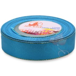 24mm Senorita Gold Edge Satin Ribbon - Dress Blue 24G
