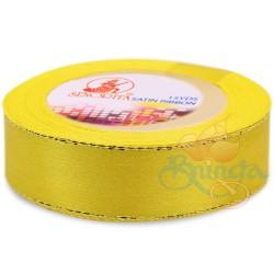 24mm Senorita Gold Edge Satin Ribbon - Yellow 3G