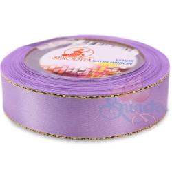 24mm Senorita Gold Edge Satin Ribbon - Lavender 804G