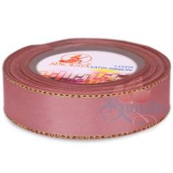 24mm Senorita Gold Edge Satin Ribbon - Rose Gold 820G