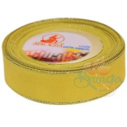 24mm Senorita Silver Edge Satin Ribbon - Yellow 3s