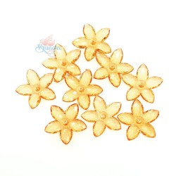 #2809 Acrylic Transparent Flower Bead 3.2cm - Light Orange (20gram/pack)