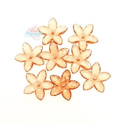 #2809 Acrylic Transparent Flower Bead 3.2cm - Gold Brown (20gram/pack)