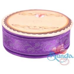 #3816 Senorita Fancy Ribbon 25mm - 014S Amethyst|Silver