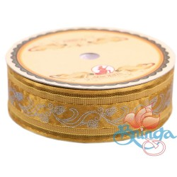 #3816 Senorita Fancy Ribbon 25mm - 226G Golden Brown|Gold