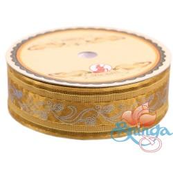 #3816 Senorita Fancy Ribbon 25mm - 226G Golden Brown|Gold