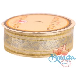 #3816 Senorita Fancy Ribbon 25mm - 51G Light Gold|Gold