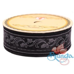 #3816 Senorita Fancy Ribbon 25mm -BLKS Black|Silver