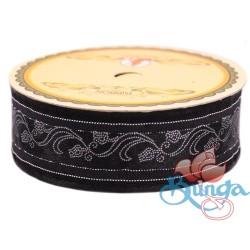 #3816 Senorita Fancy Ribbon 25mm -BLKS Black|Silver