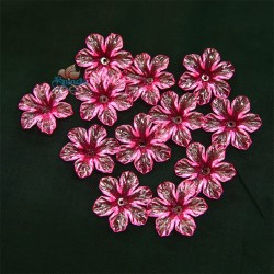 #398 Acrylic Transparent Flower Bead 3cm - Pink (20gram/pack)