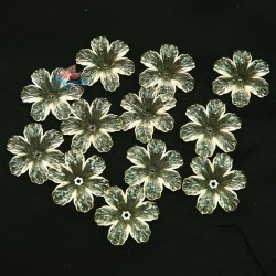 #398 Acrylic Transparent Flower Bead 3cm - Beige (20gram/pack)