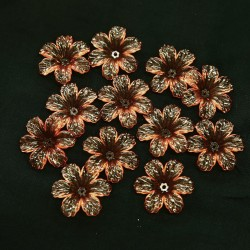 #398 Acrylic Transparent Flower Bead 3cm - Light Brown (20gram/pack)